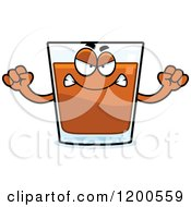 Cartoon Of A Mad Shot Glass Mascot Royalty Free Vector Clipart