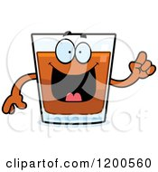Cartoon Of A Smart Shot Glass Mascot Royalty Free Vector Clipart