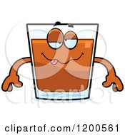 Cartoon Of A Drunk Shot Glass Mascot Royalty Free Vector Clipart