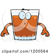 Cartoon Of A Surprised Shot Glass Mascot Royalty Free Vector Clipart