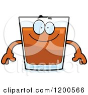 Cartoon Of A Happy Shot Glass Mascot Royalty Free Vector Clipart
