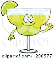 Cartoon Of A Friendly Waving Margarita Mascot Royalty Free Vector Clipart