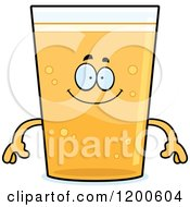 Cartoon Of A Happy Beer Mascot Royalty Free Vector Clipart