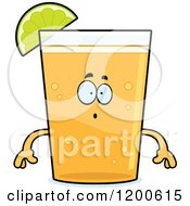Cartoon Of A Surprised Beer Mascot With A Lime Wedge Royalty Free Vector Clipart by Cory Thoman