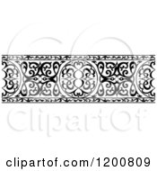 Clipart Of A Black And White Ornate Arabian Border 2 Royalty Free Vector Illustration