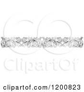Clipart Of A Black And White Ornate Floral Border 2 Royalty Free Vector Illustration