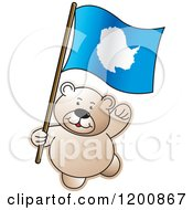 Cartoon Of A Teddy Bear With An Iceland Flag Royalty Free Vector Clipart by Lal Perera