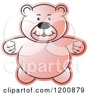 Cartoon Of A Pink Teddy Bear Royalty Free Vector Clipart by Lal Perera
