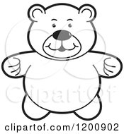 Cartoon Of A Black And White Teddy Bear Royalty Free Vector Clipart