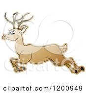 Cartoon Of A Running Deer Royalty Free Vector Clipart by Lal Perera