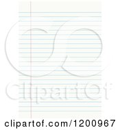 Clipart Of Blank Sheet Of Ruled Notebook Paper Royalty Free Vector Illustration by yayayoyo