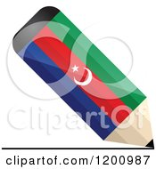 Clipart Of A 3d Writing Azerbaijan Flag Pencil Royalty Free Vector Illustration by Andrei Marincas