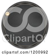Clipart Of A Round Black Leather Label Royalty Free Vector Illustration