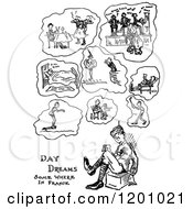 Clipart Of A Vintage Black And White War Cartoon Royalty Free Vector Illustration by Prawny Vintage