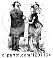 Clipart Of A Vintage Black And White Farewell To Punshon Royalty Free Vector Illustration