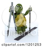 3d Architect Tortoise With Drafting Tools