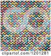 Clipart Of A Colorful Abstract Chevron Pattern Royalty Free Vector Illustration