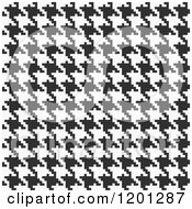 Clipart Of A Seamless Black And White Pixelated Houndstooth Pattern Royalty Free Vector Illustration