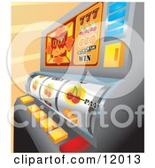 Casino Slot Machine In Las Vegas Clipart Illustration