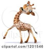 Clipart Of A 3d Happy Giraffe Making A Funny Face Royalty Free CGI Illustration