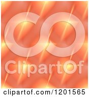 Clipart Of A Background Pattern Of Orange Fractal Stars Royalty Free CGI Illustration