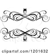 Clipart Of A Vintage Black And White Ornate Frame 2 Royalty Free Vector Illustration