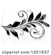 Clipart Of A Black And White Flourish With A Shadow 13 Royalty Free Vector Illustration