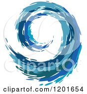 Clipart Of A Blue Painted Curling Wave 5 Royalty Free Vector Illustration by Vector Tradition SM
