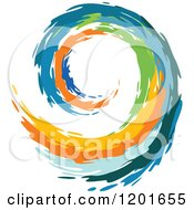 Clipart Of A Colorful Painted Curling Wave 5 Royalty Free Vector Illustration by Vector Tradition SM