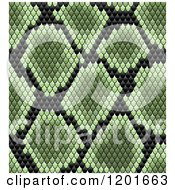 Clipart Of A Seamless Green And Black Snake Skin Pattern Royalty Free Vector Illustration