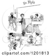 Clipart Of A Vintage Black And White School Boy Giving A Speech Royalty Free Vector Illustration by Prawny Vintage