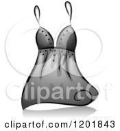 Clipart Of A Grayscale Sexy Lingerie Top Royalty Free Vector Illustration by BNP Design Studio