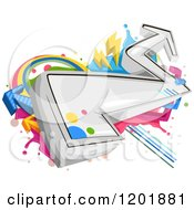 Clipart Of Funky Arrow Graffiti Royalty Free Vector Illustration