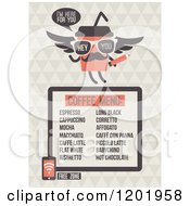 Clipart Of A Retro Cafe Menu Design With A Free Wifi Zone Symbol Royalty Free Vector Illustration by elena