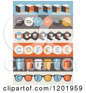 Clipart Of Retro Coffee Borders Royalty Free Vector Illustration by elena