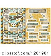 Clipart Of A Retro Cafe Menu Design Royalty Free Vector Illustration by elena