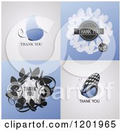 Clipart Of Thank You Butterfly Designs Royalty Free Vector Illustration