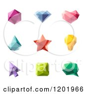 Clipart Of 3d Colorful Geometric Design Elements And Shapes Royalty Free Vector Illustration by elena