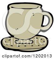 Cartoon Of A Teacup Royalty Free Vector Illustration