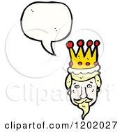 Cartoon Of A King Speaking Royalty Free Vector Illustration by lineartestpilot