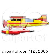 Clipart Of A Small Light Seaplane Royalty Free Vector Illustration by Lal Perera
