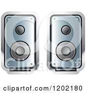 Clipart Of A Computer Speakers Icon Royalty Free Vector Illustration by Lal Perera
