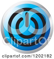 Clipart Of A Computer Power Button Icon Royalty Free Vector Illustration