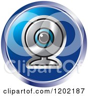 Clipart Of A Round Computer Web Cam Icon Royalty Free Vector Illustration