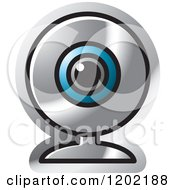Clipart Of A Computer Web Cam Icon Royalty Free Vector Illustration