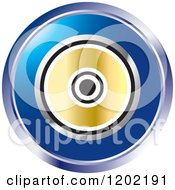 Clipart Of A Round Computer Software Cd Icon Royalty Free Vector Illustration