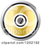 Clipart Of A Computer Software Cd Icon Royalty Free Vector Illustration