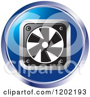 Clipart Of A Round Computer Cooling Fan Icon Royalty Free Vector Illustration