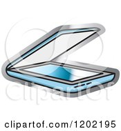 Clipart Of A Computer Flatbed Scanner Icon Royalty Free Vector Illustration