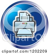 Clipart Of A Round Desktop Computer Printer Icon Royalty Free Vector Illustration by Lal Perera